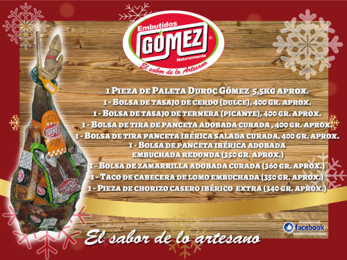 Lote productos embutidos Gómez